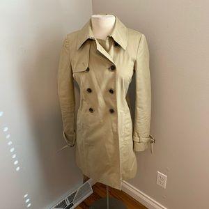 J.Crew iconic trench coat beige size 2